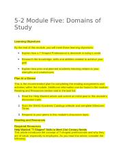 5-2 Module Five - Domains of Study 8-3-2018.docx