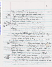 Notes on Freud's Psychoanalytical Stages