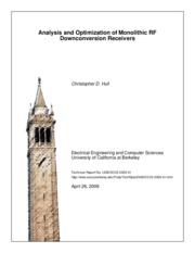 Analysis and Optimization of Monolithic RF Downconversion Receivers