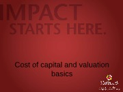 3. Cost of capital and valuation basics (1)