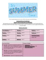 Am. Hist. 2 Summer 2018  Pacing Guides Traditional.docx