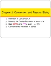 2 Conversion and Reactor Sizing
