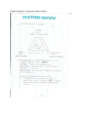 English Composition- Study guide- Midterm Review