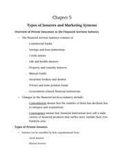types of insurers notes from powerpoint