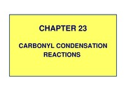 11PP - Carbonyl Condensation Reactions - Ch 23 - 70088