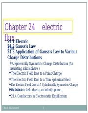 chapter 24  gauss law.ppt
