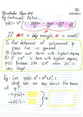 MATH 001 Fall 2013 Polynomial Behaviour Lecture Notes