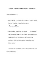 Chapter 7 Intellectual Property and Internet Law