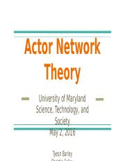 Actor Network Theory Presentation.pptx