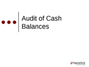 Audit of Cash Balances