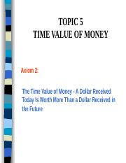 Topic5TimeValueMoney.ppt
