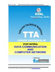 BSNL-TTA-JE-Data Comm-and-Computer-Network