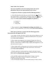 World Religion, Judaism and Christianity Exam - Study Guide Essay Questions