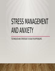 Stress Management and Anxiety.pptx