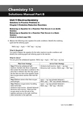 Unit 5 Electrochemistry  Solutions to Practice Problems in Chapter 9 Oxidation-Reduction Reactions