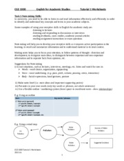 CGE1000 Tutorial 1 Worksheets 2015-16