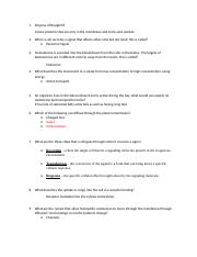 Exam 4 5 9n and 10 Questions