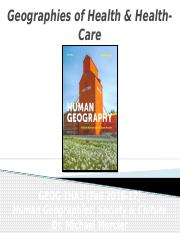 GEOG 1HA3 - Fall 2016 - Lecture 08 - Population IV - Geographies of Health & Health-Care - student-A