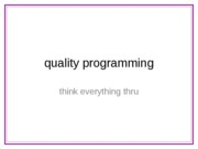 10-QualityProgramming