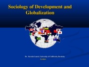 Sociology 127 - Development and Globalization