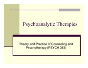 PSYCH 383_psychoanalytic therapies_slides