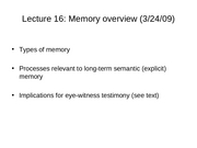 Lec16 Memory Overview