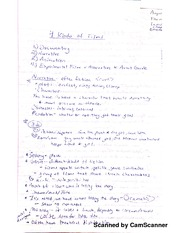 Filmmaking Semester Lecture Notes
