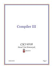 Lecture 31 - Compiler
