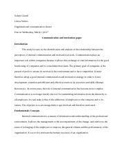 Communication and motivation paper