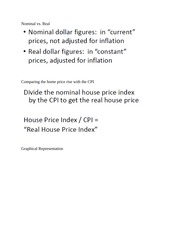 Supply and Demand in the Housing and Measurement notes part 2