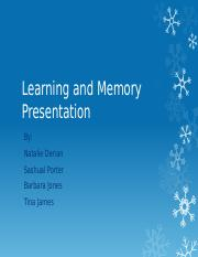 Learning and Memory Presentation (4)