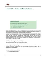 21 Excise for Manufacturers.pdf
