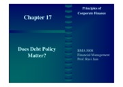 17. Does Debt Policy Matter