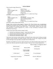 Contoh Surat Keterangan Hibahdocx Surat Keterangan Hibah