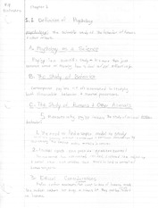 Notes on Chapter 1: History and Branches of Psychology