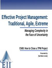EPM7e Slides Ch08 How to Close a TPM Project