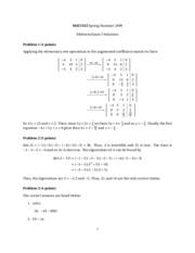 Calculus 2 - Midterm 2 Solutions
