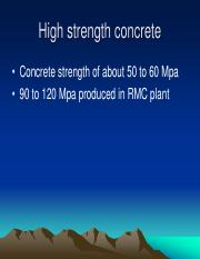 15 - High performance concrete