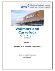 Walmart and Carrefour Operation Management UMS.docx