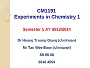 CM1191 - Introductory Lecture - Student Copy