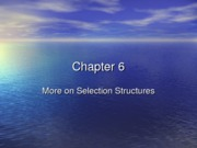 Chapter 06 More on Selection Struture (1)