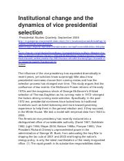 Institutional change and the dynamics of vice presidential selection.docx