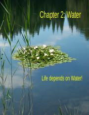 Chapter 2.2(3) Water