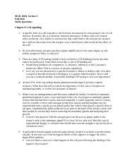 Study guide Ch 9
