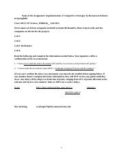 Assignment Implementation of Competitive Strategy Fa15 - red lobster -submit.docx