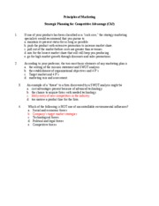 Intro-Test-Ch02 - Strategic Marketing Planning