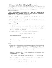 MATH 110 Spring 2014 Worksheet 1 Solutions