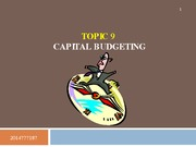Topic 9 - Capital Budgeting (complete)