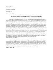 Socialization & Social Construction of Reality.docx