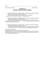 RES3200-HW3-SOLUTIONS-Adjustable Rate Mortgages(1)
